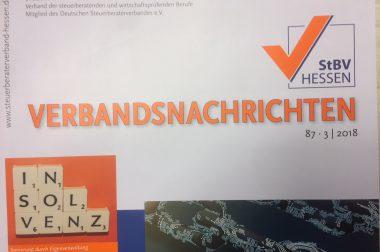 """""""Pensionszusagen: gestern ein Segen, heute eine Last"""", in : Steuerberaterverband Hessen e.V., Verbandsnachrichten Nr. 87, S. 56f"""